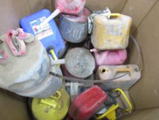 (13) Miscellaneous Gas Cans, Located in Hopkinton, IA