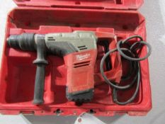 Milwaukee Spline Rotary Hammer Drill, Serial # C83AD14080101, 120 Volt, Located in Hopkinton, IA