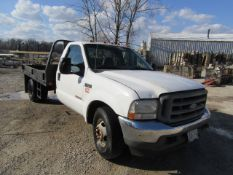 2003 Ford F350 Super Duty Flat Bed Truck, Vin# 1FDWF36P03EC51103, 147,693 miles, Automatic, Power