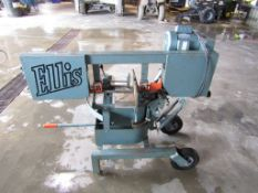 "Ellis Mitre Band Saw, Model # 1600, Serial # 16007320, Blade Size 10"" x 1"" x .035, Cuts 7"" @ 45"