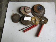 Bucket Assorted Blades & Bit, Located in Hopkinton, IA