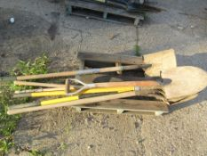 (6) Round Point & (1) Square Head Shovels