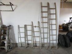 (5) Aluminum Ladders