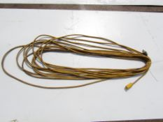 Yellow Extension Cord with yellow & black ends