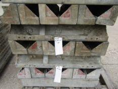 "(12) 6"" x 6"" x 3' Western Elite Concrete Form, Inside Corner Smooth 6-12 Hole Pattern Triple"