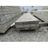 """(3) 17"""" x 8' Durand Concrete Forms, Smooth 6-12 Hole Pattern, Attached Hardware, Located in Mt."""
