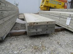 "(4) 19"" x 8' Durand Concrete Forms, Smooth 6-12 Hole Pattern, Attached Hardware, Located in Mt."