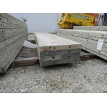 """(4) 19"""" x 8' Durand Concrete Forms, Smooth 6-12 Hole Pattern, Attached Hardware, Located in Mt."""