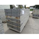 """(20) 36"""" x 8' Durand Concrete Forms, Smooth 6-12 Hole Pattern, Attached Hardware, Located in Mt."""