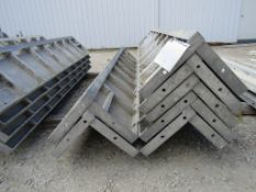 "(7) 12"" x 12"" x 8' Durand Concrete Forms Corners, Smooth 6-12 Hole Pattern, Located in Mt. Pleasant,"