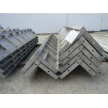 """(7) 12"""" x 12"""" x 8' Durand Concrete Forms Corners, Smooth 6-12 Hole Pattern, Located in Mt. Pleasant,"""