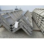 """(4) 14"""" x 14"""" x 8' Durand Concrete Forms Corners, Smooth 6-12 Hole Pattern, Located in Mt. Pleasant,"""