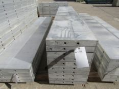 "(10) 16"" x 8' New Durand Concrete Forms, Smooth 6-12 Hole Pattern, Attached Hardware, Located in Mt."