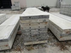 "(15) 18"" x 8' Durand Concrete Forms, Smooth 6-12 Hole Pattern, Attached Hardware, Located in Mt."