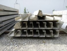 "(17) 5""x5""x8' & (4) 6""x4""x8' Durand Concrete Forms, Inside Corners, Smooth 6-12 Hole Pattern, Full"
