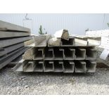 """(17) 5""""x5""""x8' & (4) 6""""x4""""x8' Durand Concrete Forms, Inside Corners, Smooth 6-12 Hole Pattern, Full"""