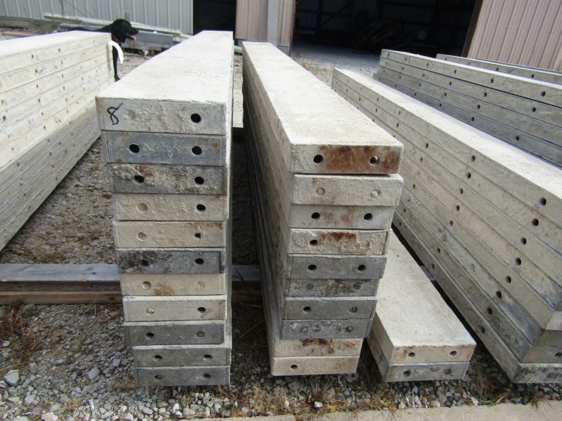"""(23) 8"""" x 8' Durand Concrete Forms, Smooth 6-12 Hole Pattern , Located in Mt. Pleasant, IA"""