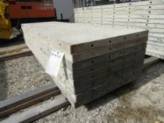 "(8) 30"" x 8' Durand Concrete Forms, Smooth 6-12 Hole Pattern, Attached Hardware, Located in Mt."