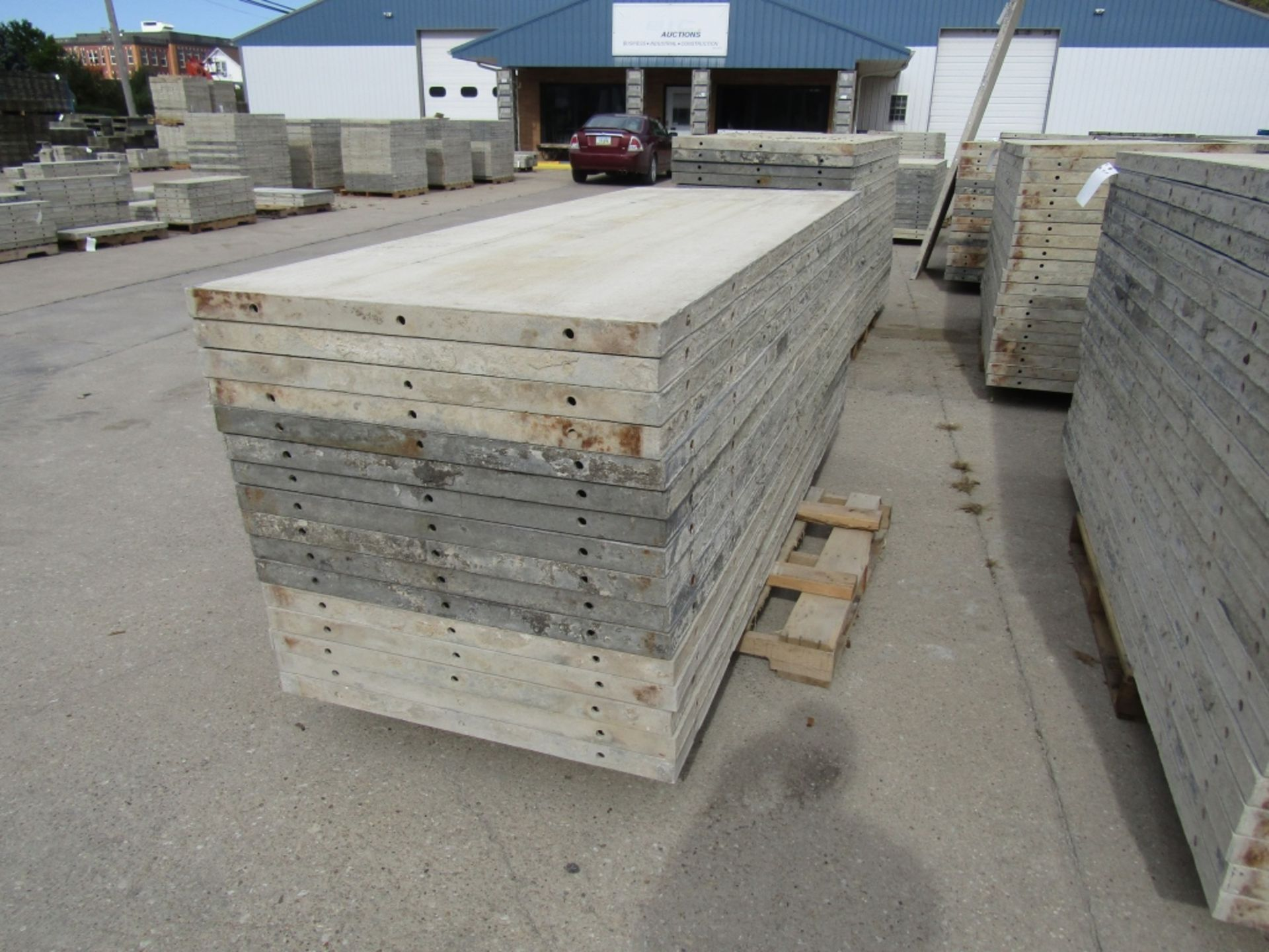 """(16) 36"""" x 8' Durand Concrete Forms, Smooth 6-12 Hole Pattern, Attached Hardware, Located in Mt. - Image 3 of 4"""