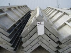 "(5) 12"" x 12"" x 8' Durand Concrete Forms Corners, Smooth 6-12 Hole Pattern, Located in Mt. Pleasant,"