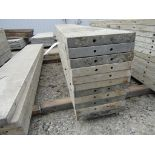 """(23) 16"""" x 8' Durand Concrete Forms, Smooth 6-12 Hole Pattern, Attached Hardware, Located in Mt."""