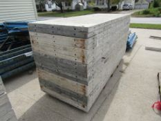 "(20) 36"" x 8' Durand Concrete Forms, Smooth 6-12 Hole Pattern, Attached Hardware, Located in Mt."