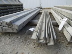(8) 8' Durand Concrete Forms Angles, Smooth 6-12 Hole Pattern, Located in Mt. Pleasant, IA