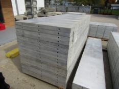 "(18) 36"" x 8' New Durand Concrete Forms, Smooth 6-12 Hole Pattern, Attached Hardware, Located in Mt."