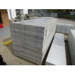 """(18) 36"""" x 8' New Durand Concrete Forms, Smooth 6-12 Hole Pattern, Attached Hardware, Located in Mt."""