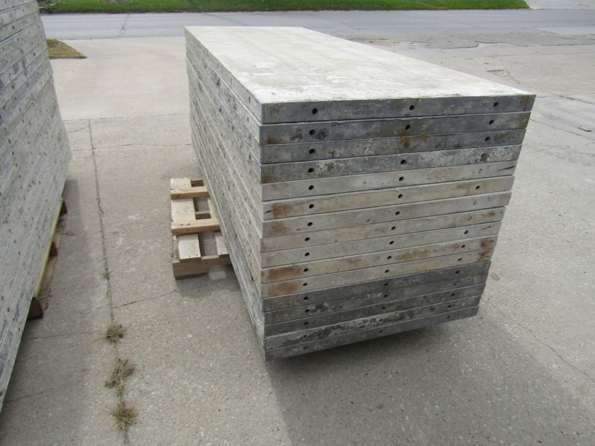 """(16) 36"""" x 8' Durand Concrete Forms, Smooth 6-12 Hole Pattern, Attached Hardware, Located in Mt. - Image 2 of 4"""