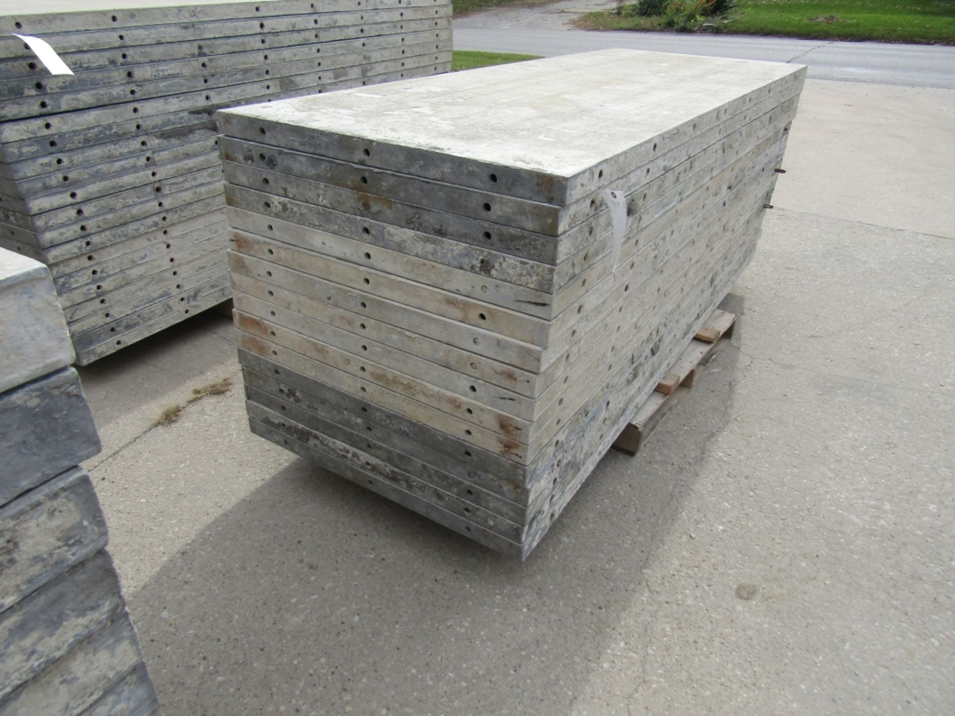 """(16) 36"""" x 8' Durand Concrete Forms, Smooth 6-12 Hole Pattern, Attached Hardware, Located in Mt."""