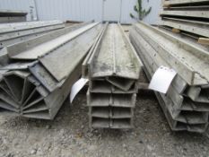 "(6) 4"" x 8' Durand Concrete Forms Hinged, Smooth 6-12 Hole Pattern, Located in Mt. Pleasant, IA"