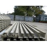 """(6) 4"""" x 4"""" x 9' Durand Concrete Forms, Inside Corners, Smooth 6-12 Hole Pattern, Full"""