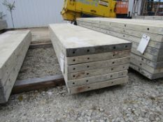 "(6) 20"" x 8' Durand Concrete Forms, Smooth 6-12 Hole Pattern, Attached Hardware, Located in Mt."