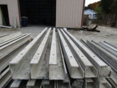 "(3) 4""x4""x8' & (3) 5""x5""x8' Durand Concrete Forms, Inside Corners, Smooth 6-12 Hole Pattern, Full"