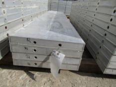 "(4) 18"" x 8' New Durand Concrete Forms, Smooth 6-12 Hole Pattern, Attached Hardware, Located in"