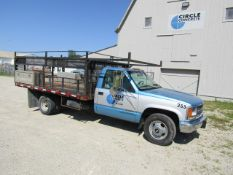 1999 Chevy 3500 Form Pick Up w/Tool Boxes, 9' Bed, Model GMT-400, Dually, VIN #1GBJC34J0XF063255,