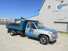 1999 Chevy 3500 Dump Truck, with 10' Bed, Dually, VIN #1GBJC34R7XF001826, 155512 miles, Automatic