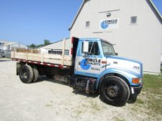1999 International 4700 DT466E Flat Bed Truck, Model 4170, Dually, VIN #1HTSCAAM3XH607743, 276623