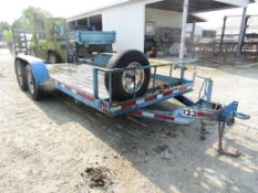 "2002 Cronkhite Tandem Axle Trailer, VIN # 47326202421101123, Ramps 16'4"" x 6' 6"" Wood Deck,"
