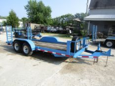 "2001 Cronkhite Tandem Axle Flatbed Trailer, VIN #4732620X11110326, Ramps 16'4"" x 6' 6"", Wood Deck,"