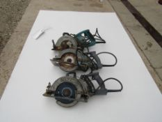 (3) Skilsaw Saws, (1) Skilsaw HD77, Serial #HF-376921, (1) Makita 5277NB, Serial #28372A, (1)