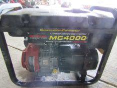 Generac MC4000 Generator, GN-220 7.8 hp Motor,,