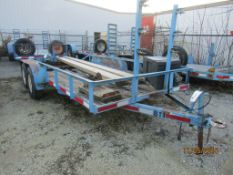 1988 Brewer Tandem Axle Trailer, VIN #068814, Damaged Decking, New Lumber included to fix.