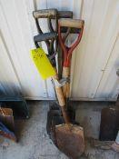 (5) Round Point Shovels