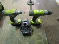 Ryobi Drills with Batteries & Chargers