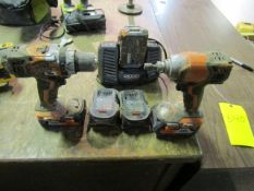 Ridgid Drills with Chargers & Batteries