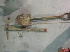 (1) Pick ax & (1) Round Point Shovel
