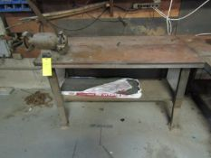 Metal Table with Bench Grinder