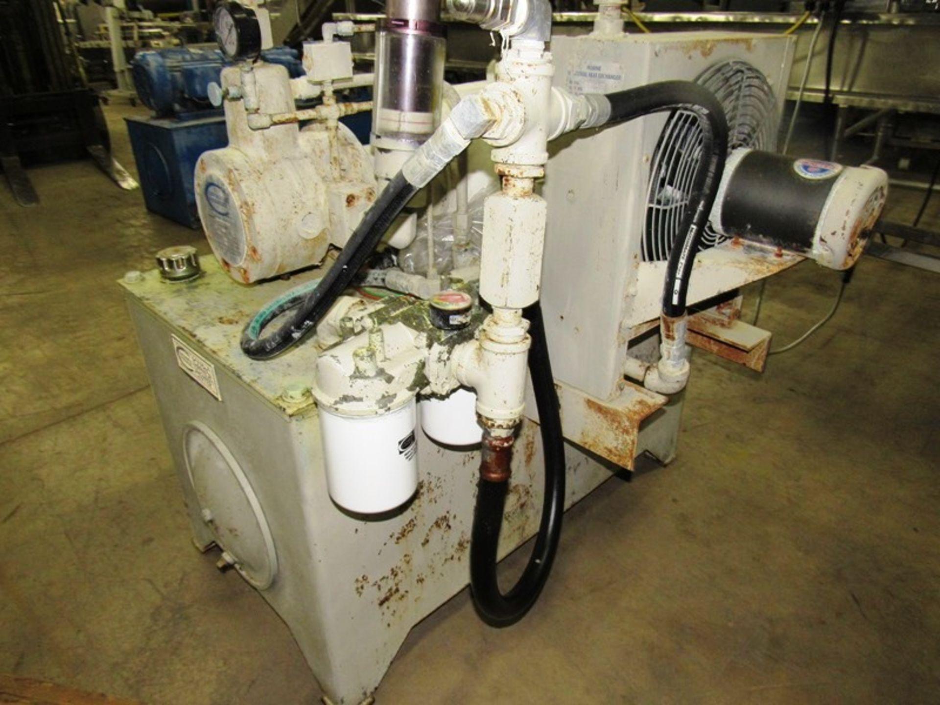 "Lot 16 - Stein Hydraulic Power Pack, 26"" W X 46"" L X 21"" D reservoir, 20 h.p., 230/460 volt motor on pump,"